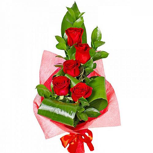 """""""Пламенный"""". Букет красных роз"""