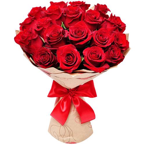 """""""Розы любви"""". Букет элитных красных роз"""